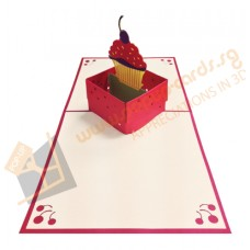 Cupcake in Box (Red)