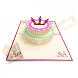 Cake with 3 Candle (Red)